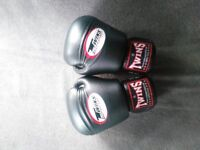 Twins Special Black 16oz Muay Thai Boxing Gloves - BGVL-3 *rrp£85*