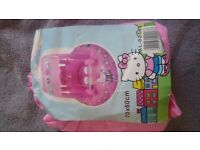Inflatable baby float Hello Kitty with sun shade