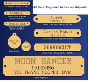 Brass Plates assorted ENGRAVED-PERSONALIZED