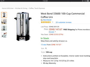 West Bend 100-cup Coffee Maker