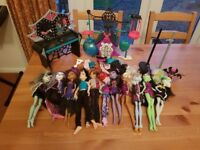 Monsters high dolls and much more