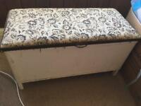 Lloyd Loom Ottoman / End of bed storage