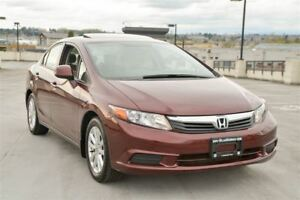 2012 Honda Civic EX- Coquitlam Location 604-298-6161