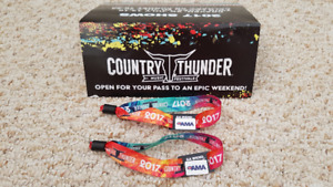 Two Unregistered Full Weekend Passes for Country Thunder Alberta