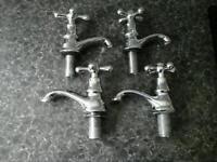 Reclaimed 1950s - 60s chrome bathroom taps