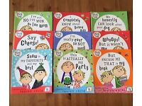 9 paperback Charlie and Lola books