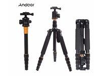 Andoer® Q-666 Pro SLR Camera Tripod monopod with Ball Head