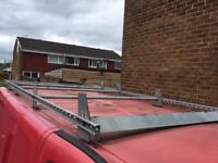 Vauxhall vivaro roof rack with ladder roller