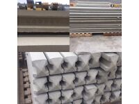 9ft Concrete Slotted Fence Posts