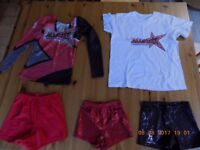 Dance/cheer shorts and tops