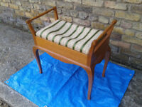 Piano Bench Stool Padded Seat With Storage Vintage / Antique / Retro ##FREE LOCAL DELIVERY##
