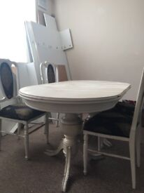 Next Cambridge Light 4 6 Seater Square To Rectangle Dining Table