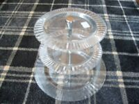 THREE TIER GLASS CAKE STAND - NEW FROM HOUSE OF FRAZER - RRP £30