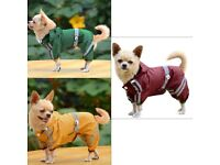 Brand New Pet Dog Puppy Raincoat Jacket Warm Waterproof Hoodies Clothes***All Sizes Available***