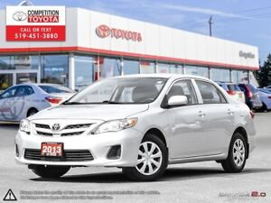 2013 Toyota Corolla CE One Owner, No Accidents, Toyota Serviced