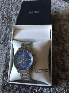 Brand New Seiko Chronograph Blue Dial. Date. SK678358. Very Ligh