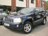 2005 55-Reg Jeep Grand Cherokee 3.0CRD V6 auto Limited,GEN 85,000 MILES!!!
