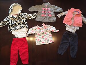 Girls 6-12 month fall/winter clothes