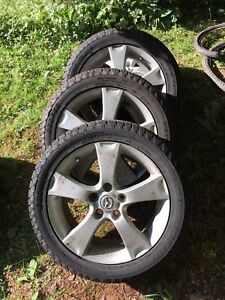 Mazda 3 GT rims and winter tires