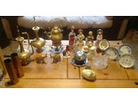 Brass and Ceramic Ornaments
