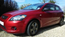 Kia Pro_Ceed STRIKE, 2010(10) Red, Manual Petrol, 59,000 miles, FSH, FREE 3 MONTH RAC JUST SERVICED