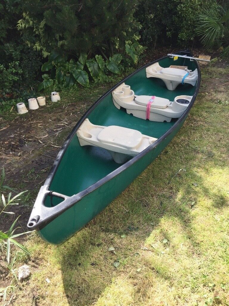 Canadian Canoe Macinaw 15'6, 3 person inc Paddles and Buoyancy Aids