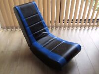 Rocker Gaming Chair (Black and Blue)