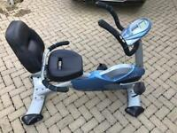 Carl Lewis recumbent exercise bike