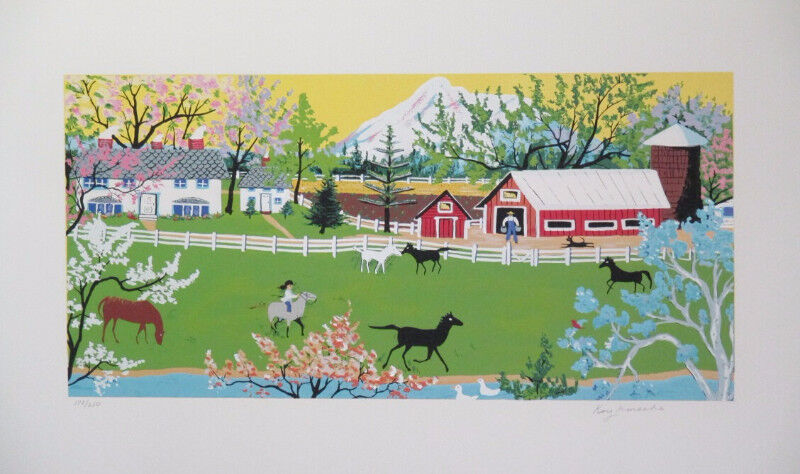 Limited Edition Serigraph Print Mount Shasta by Kay Ameche!