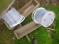 chicken feeders and wire