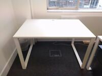 White office desks: 80X120X74cm