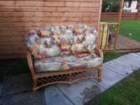 2 x 2 seater settees and 2 chairs cane furniture