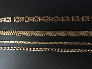 14K gold chains and bracelets