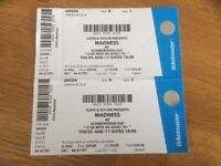 MADNESS TICKETS, SCARBOURGH