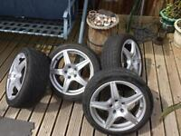Mercedes alloys and Tyres amg replica Audi seat Volkswagen