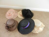 Collection of wedding hats