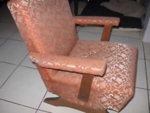 antique kids childrens upholstered rocking chair