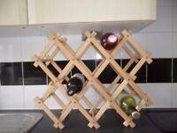 10 bottle folding wooden wine rack x 3