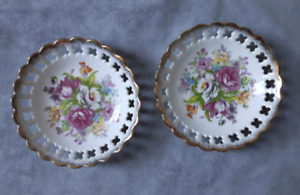 2 Small flowered collectors plates