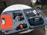 DRILL. CORDLESS? BLACK AND DECKER QUATTRO TOOL set. In case. NEW Condition