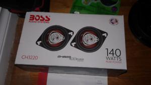 """140 watt Boss (3.5"""") car speakers .."""