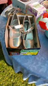 New Silver shoes children size 3