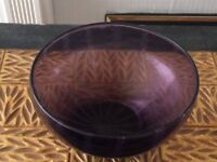 Bowl (Deep Purple Glass)