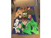 Boys Ben 10 single duvet cover & pillow case + curtains and mat