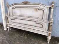 Antique French Original Painted King/queen Size Bed