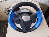 ps2 steering wheel