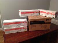 OKI C130n printer original cartridges & Drum. Also covers the C110 printer.