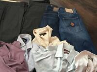 Men's clothes.