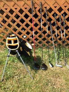 Used kids golf clubs and bag