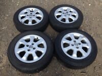 """Vauxhall corsa / Astra 15"""" alloy wheels - good tyres - set of 4"""